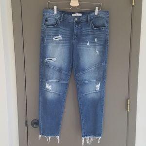 KanCan Distressed Moto Skinny Jeans Size 31
